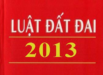 Luật đất đai 2013 Số: 45/2013/QH13