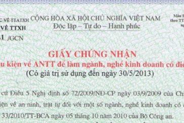 Hồ sơ cấp giấy phép an ninh trật tự tại Nghệ An