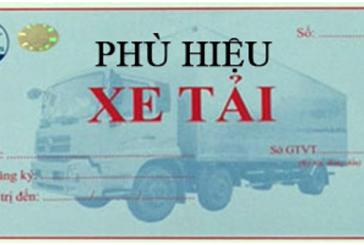 Thủ tục xin cấp phù hiệu cho xe tải