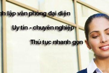 Dịch vụ thành lập văn phòng đại diện tại Nghệ An